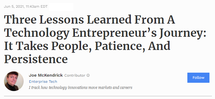 Cover image for Entreprenerd review on Forbes