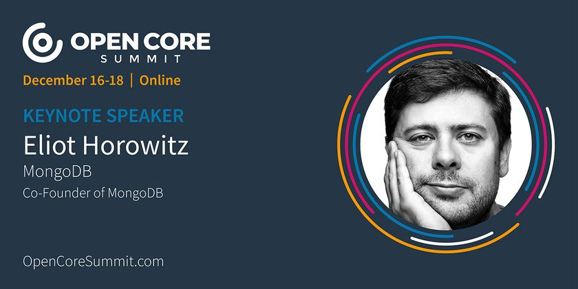 Cover image for OCS 2020 Keynote: Eliot Horowitz, former Co-founder/CTO of MongoDB