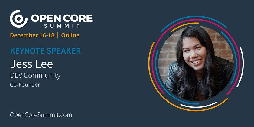 Cover image for OCS 2020 Keynote: Jess Lee, co-founder of Forem